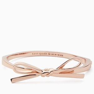 NWT~KATE SPADE~Rose Gold Skinny Mini Bow Bangle